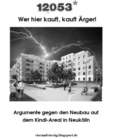 Argumente gegen Neubau 12053 Neukölln
