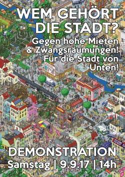 Solidarisch gegen hohe Mieten & Zwangsräumungen! – Für die Stadt von unten!