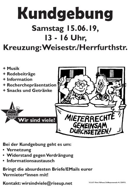 Kundgebung Schillerkiez 15.Juni 2019