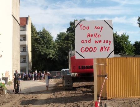 Protest gegen Ahoj-Bauprojekt Rixdorf