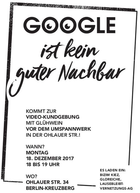 Google ist kein guter Nachbar