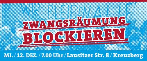 Blockade Zwangsräumung 12.12.2012