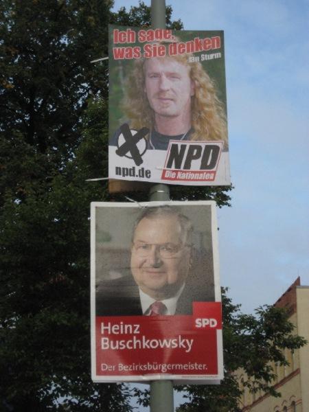 Wahlplakate NPD SPD
