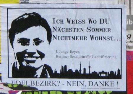 Plakat Edelbezirk - Nein Danke