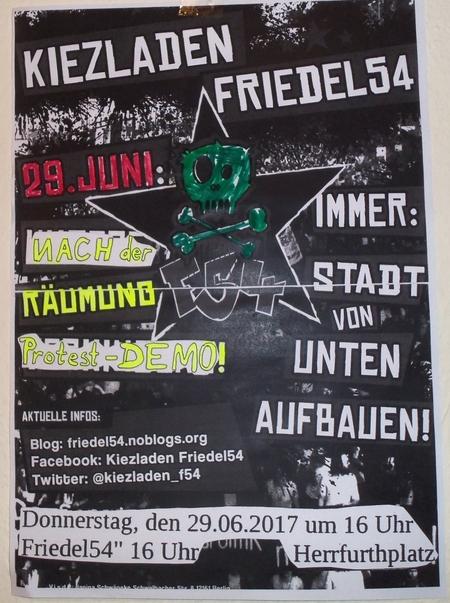 Demo gegen Räumung Friedel54