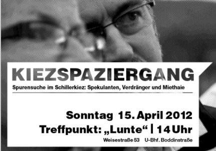 Kiezspaziergang Schillerkiez 15.4.2012