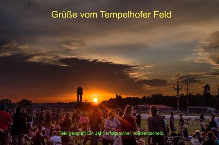 Grüsse vom Tempelhofer Feld