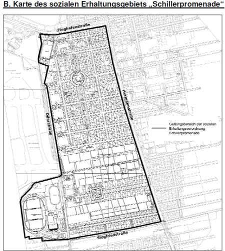 Karte Erhaltungsgebiet Schillerpromenade