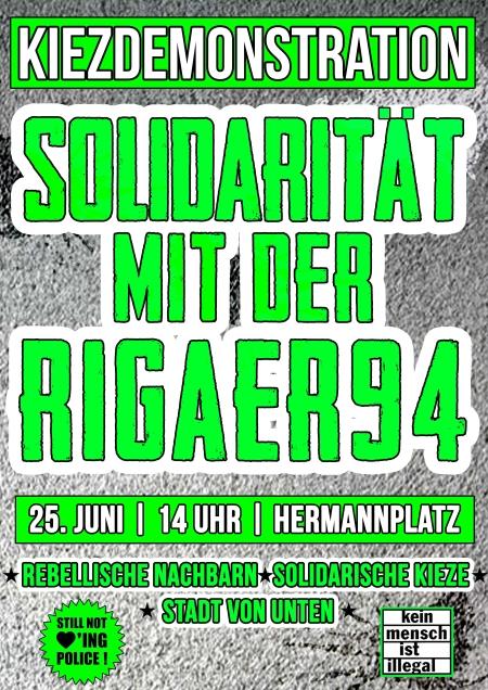 KIezdemo Solidarität mit der Rigaer94