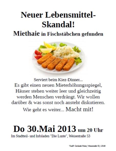 Kiez-Dinner 30. Mai 2013
