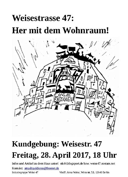 Kundgebung Weisestrasse 47
