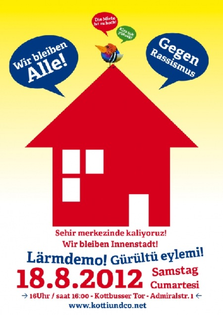 Lärmdemo Kotti und Co am 18.8.2012