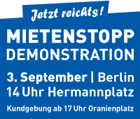 Mietenstopp-Demonstration 3. September 2011