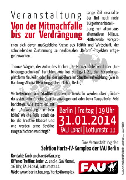 Veranstaltung Mitmachfalle Jan 2014