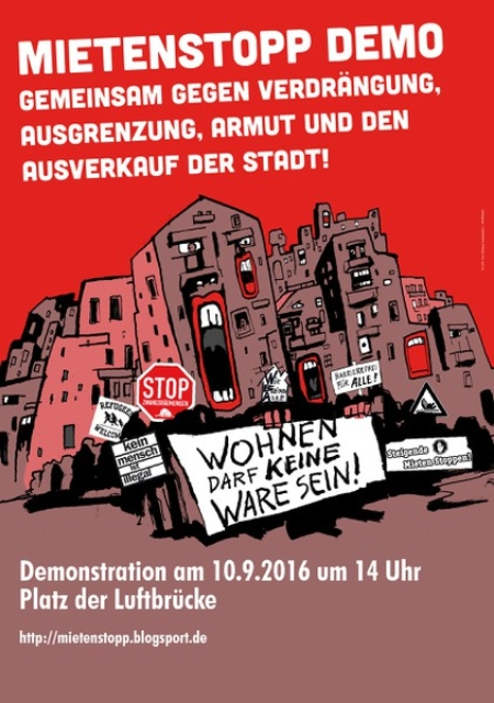 Mietenstopp-Demo 10.9.2016