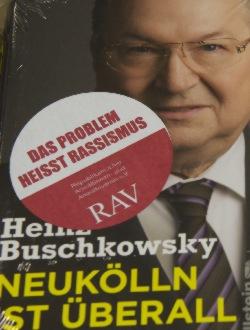 Aufkleber Rassismus Buschkowsky