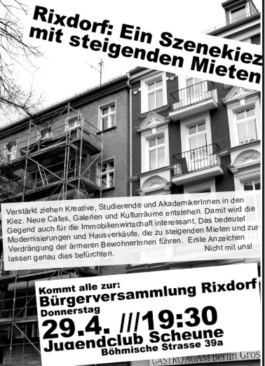 Bürgerforum Rixdorf 29. April