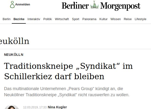 Leider Fake-News der Berliner Morgenpost
