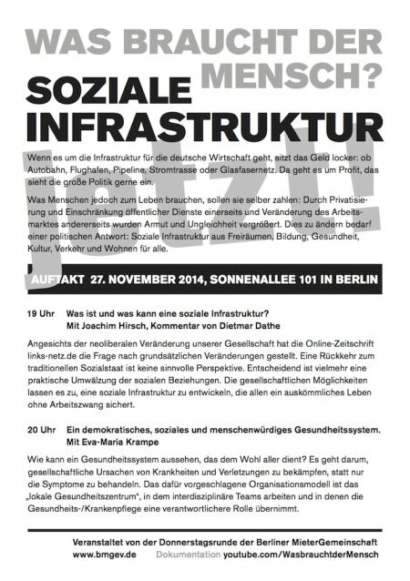 Veranstaltung: Soziale Infrastruktur
