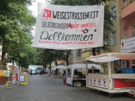 Transparent Strassenfest Weisestrasse 2014