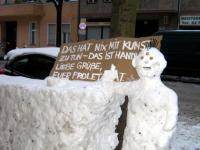 Handwerk mit Schnee Weisestrasse