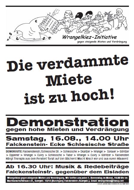Demo gegen hohe Mieten Berlin