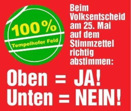 Richtig abstimmen 100% Tempelhofer Feld