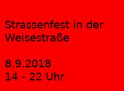 Weisestraßenfest 8. September 2018