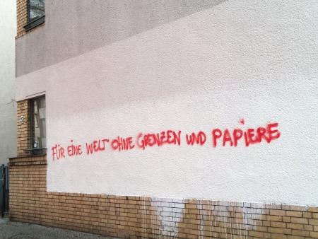 Welt ohne Grenzen und Papiere