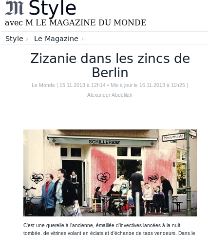Zizanie Le Monde Website Screenshot
